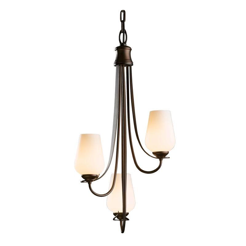 """Hubbardton Forge 103033 Flora 3 Light 16"""" Wide Mini Chandelier with"""