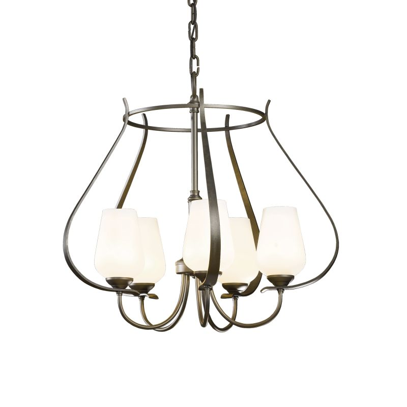 """Hubbardton Forge 103045 Flora 5 Light 22"""" Wide Chandelier with"""