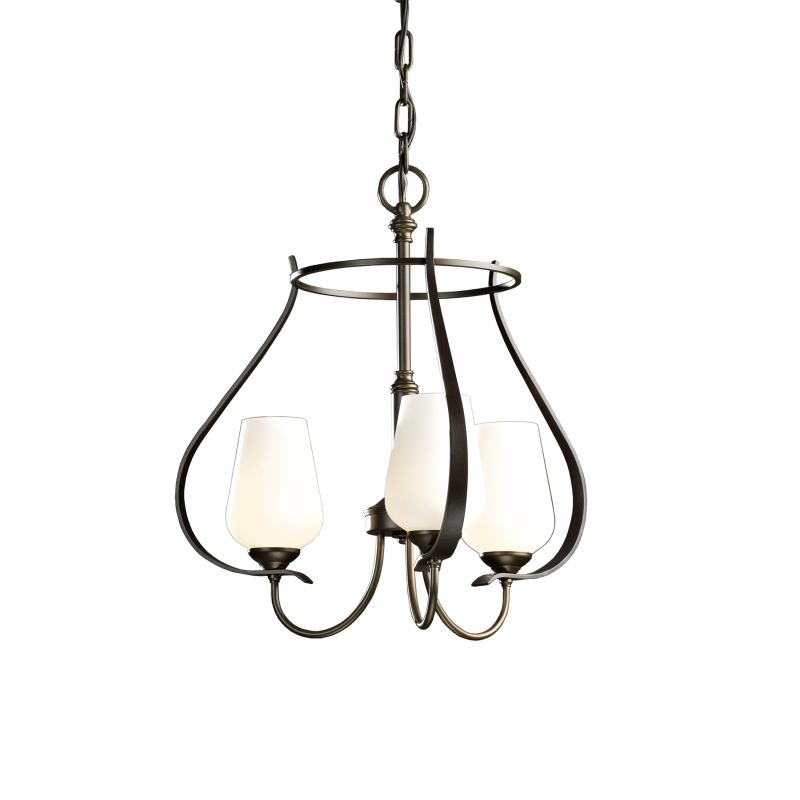"""Hubbardton Forge 103047 Flora 3 Light 19"""" Wide Mini Chandelier with"""