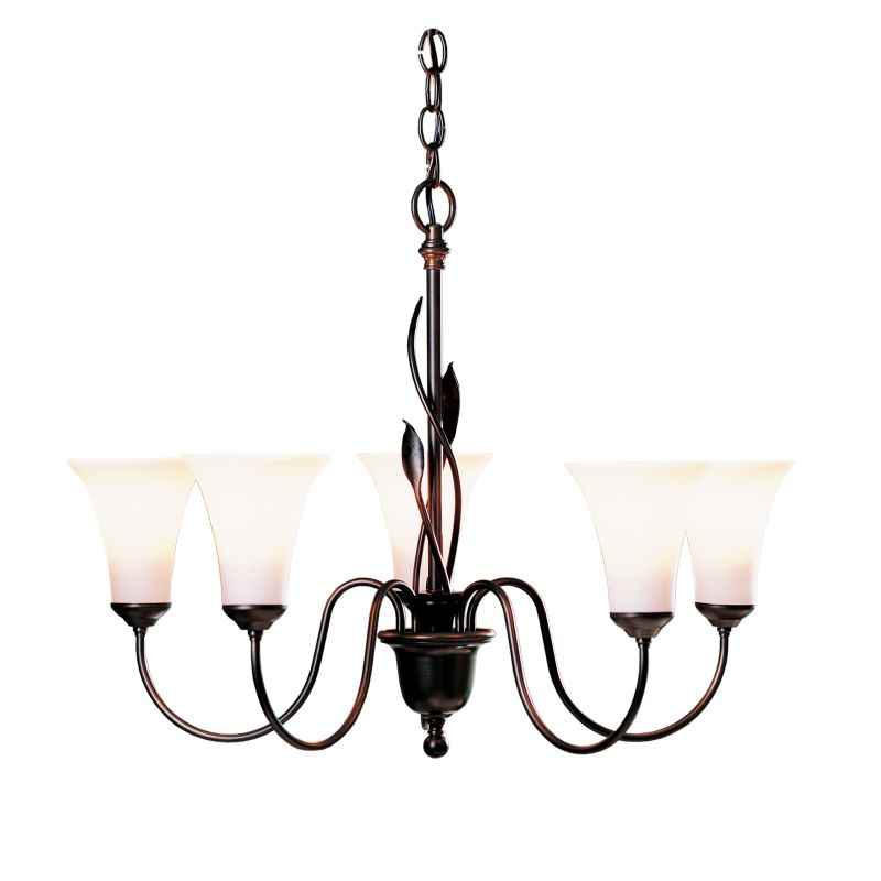 "Hubbardton Forge 103052 Forged Leaves 5 Light 27"" Wide Chandelier with"