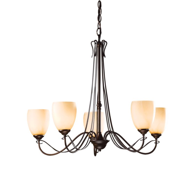 "Hubbardton Forge 103062 Trellis 5 Light 28"" Wide Chandelier with"