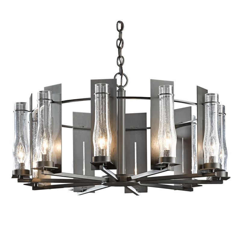 "Hubbardton Forge 103290 New Town 10 Light 30"" Wide Chandelier with"