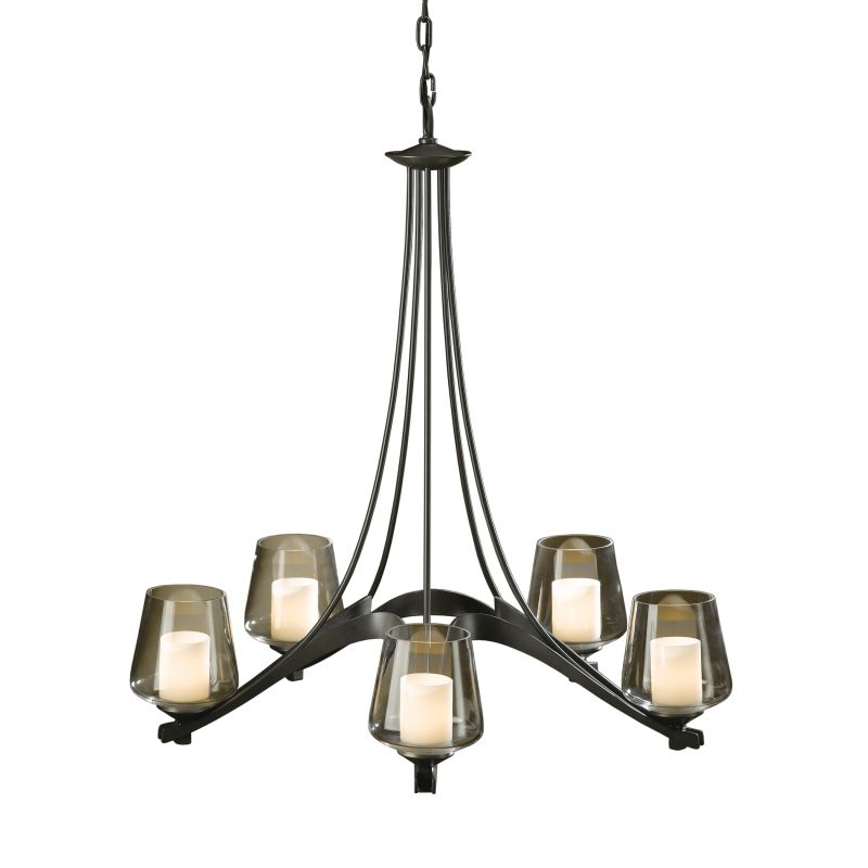 "Hubbardton Forge 104115 Ribbon 5 Light 29"" Wide Chandelier with"