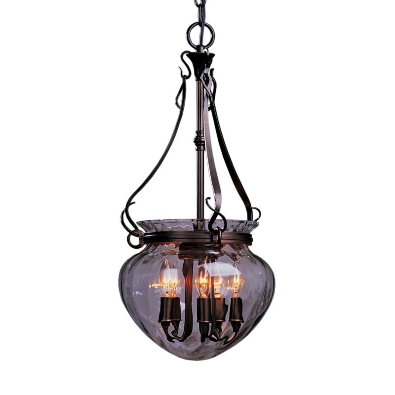 """Hubbardton Forge 121024 Acharn 5 Light 11"""" Wide Pendant with Water"""