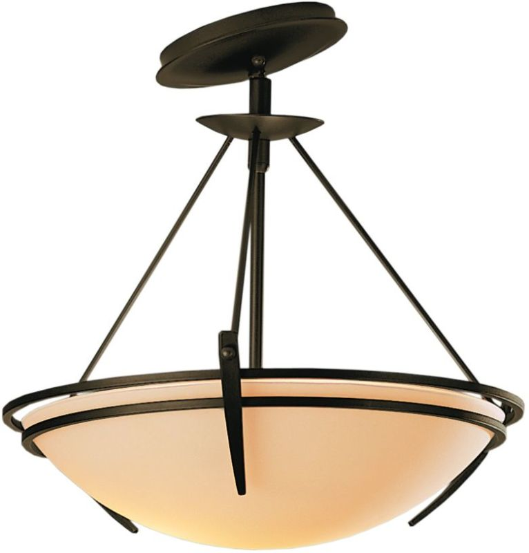 Hubbardton Forge 124424 2 Light Semi-Flush Ceiling Fixture with Bowl Sale $547.80 ITEM#: 1669809 MODEL# :124424-05 :