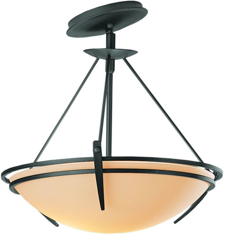 Hubbardton Forge 124424 2 Light Semi-Flush Ceiling Fixture with Bowl Sale $547.80 ITEM#: 1669811 MODEL# :124424-08 :