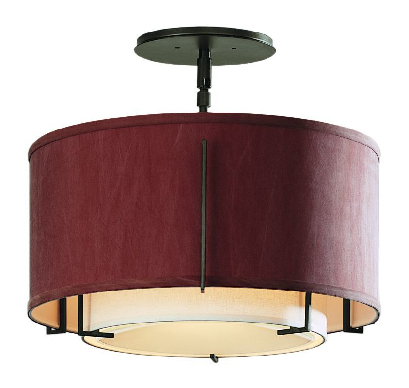 Hubbardton Forge 126501 1 Light Semi-Flush Small Ceiling Fixture from