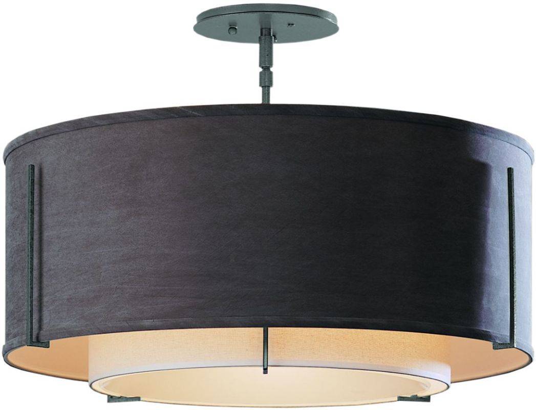 "Hubbardton Forge 126503 1 Light Semi-Flush Medium Ceiling Fixture from Sale $924.00 ITEM#: 1283404 MODEL# :126503-08 Features: All Hubbardton Forge products are made to order in Castleton, Vermont USA Ultra secure mounting assembly ensures a sturdy installation Sends light in a downward direction as well as providing a general ambient light for your room Hand made nature of this product makes no two fixtures identicalSpecifications: Number of Bulbs: 3 Bulb Base: Medium (E26) Bulb Type: Compact Fluorescent Watts Per Bulb: 100 Wattage: 225 Height: 15.3"" Width: 22.9"" UL Listed: Yes UL Rating: Dry LocationCompliance: UL Listed - Indicates whether a product meets standards and compliance guidelines set by Underwriters Laboratories. This listing determines what types of rooms or environments a product can be used in safely.Warranty: All Hubbardton Forge products come with a limited lifetime warranty on finish and electrical components. This includes products used outdoors and near the coast. Read more about the Hubbardton Forge warranty below. Celebrating 40 years in business, Hubbardton Forge has been serving their customers by manufacturing unique pieces of lighting for years. Steadfastly committed to designing, manufacturing, and creating lighting under one roof in Vermont, you'll find no comparison between a Hubbardton Forge product and another lighting brand. Unlike brands who build their products overseas, each Hubbardton Forge piece is crafted, boxed, and shipped just for you. Experience the difference today! :"