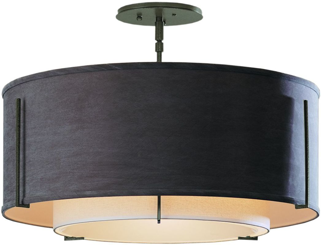 "Hubbardton Forge 126503 1 Light Semi-Flush Medium Ceiling Fixture from Sale $924.00 ITEM#: 1283399 MODEL# :126503-07 Product Features: Finish: Burnished Steel , Light Direction: Down Lighting , Width: 22.9"" , Height: 15.3"" , Genre: Transitional , Bulb Type: Compact Fluorescent, Incandescent , Number of Bulbs: 3 , Fully covered under Hubbardton Forge warranty , Location Rating: Indoor Use :"
