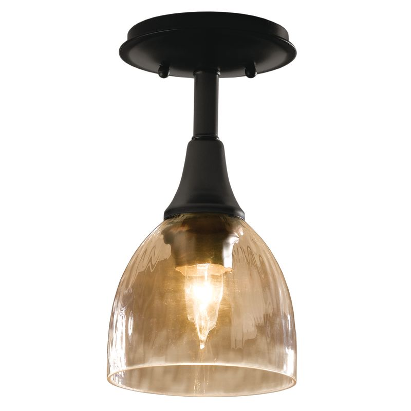 Hubbardton Forge 126703 1 Light Small Semi-Flush Ceiling Fixture
