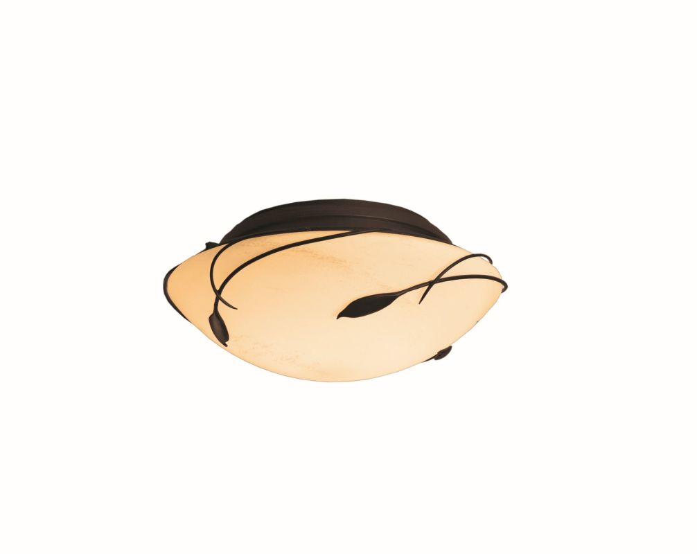"Hubbardton Forge 126709F Forged Leaves 2 Light 13.6"" Wide Flush Mount"