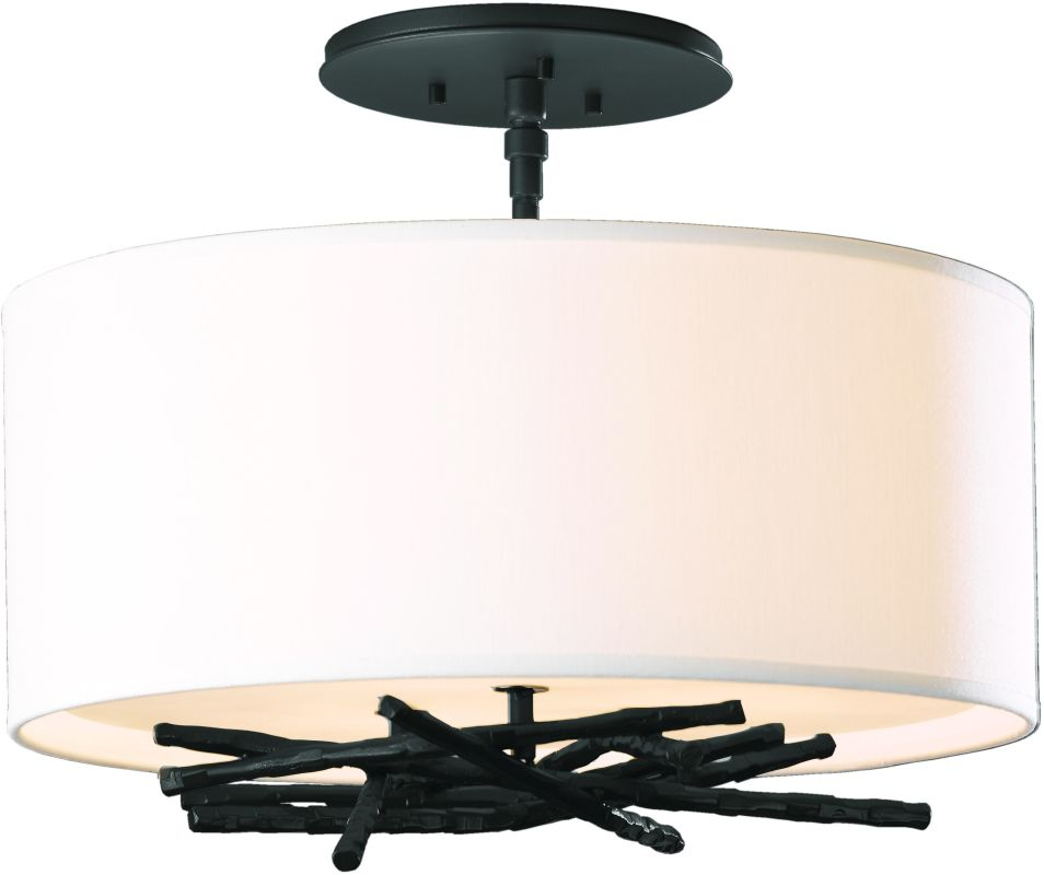 Hubbardton Forge 127660 3 Light Semi-Flush Ceiling Light from the Sale $858.00 ITEM#: 2007138 MODEL# :127660-10 :
