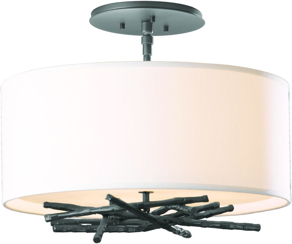 Hubbardton Forge 127660 3 Light Semi-Flush Ceiling Light from the Sale $858.00 ITEM#: 2007137 MODEL# :127660-08 :