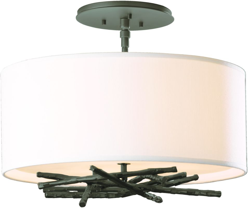 Hubbardton Forge 127660 3 Light Semi-Flush Ceiling Light from the Sale $858.00 ITEM#: 2007136 MODEL# :127660-07 :