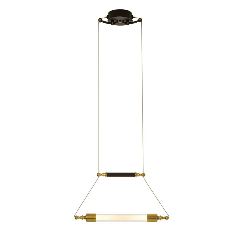 """Hubbardton Forge 134401 Otto 2 Light 19"""" Wide Pendant with Frost Glass Sale $1078.00 ITEM#: 2894129 MODEL# :134401-31-YE489 :"""