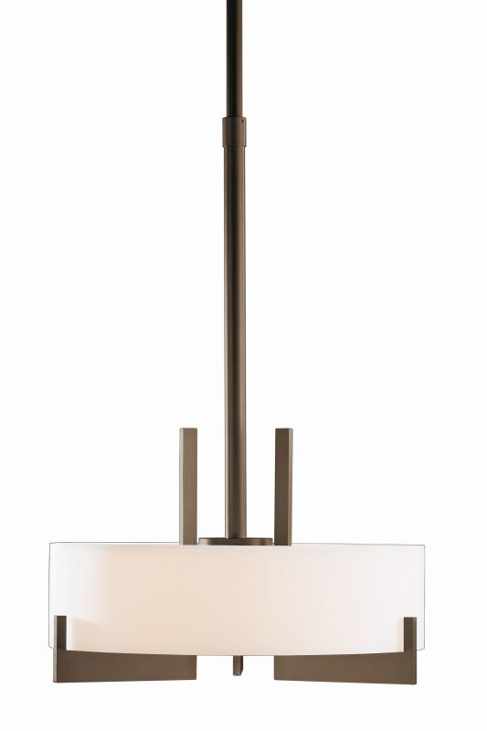 "Hubbardton Forge 136403F Axis 3 Light 19"" Wide CFL Pendant with Opal Sale $1755.60 ITEM#: 1758538 MODEL# :136403F-05 :"