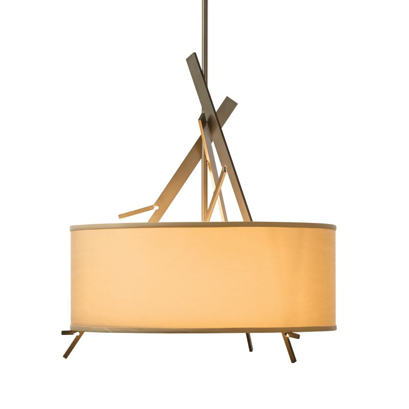 "Hubbardton Forge 136620 Arbo 3 Light 24"" Wide Adjustable Pendant with"