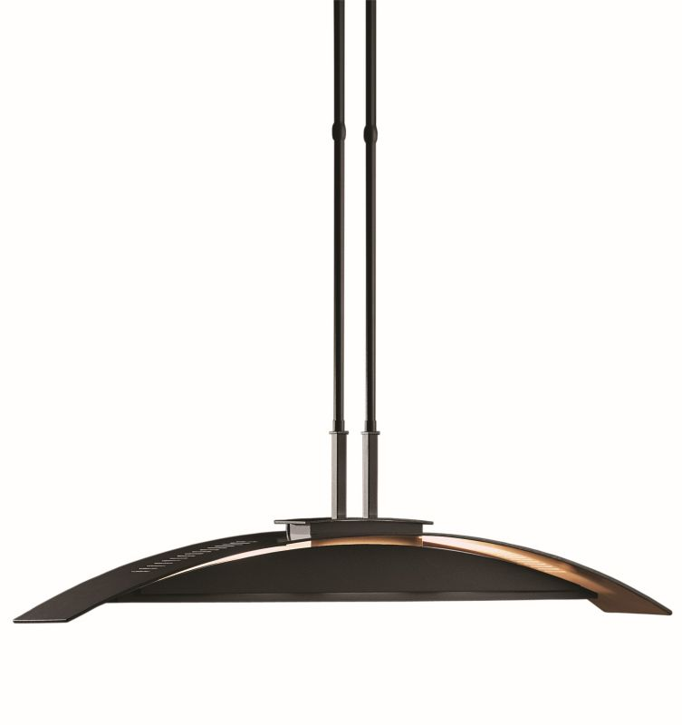 "Hubbardton Forge 137581 Bent 4 Light 42"" Wide Adjustable Chandelier"