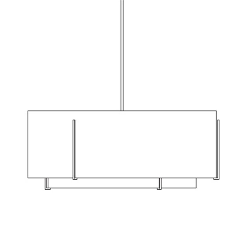 "Hubbardton Forge 19464200 Exos 6 Light 43"" Wide Single Chandelier with Sale $5852.00 ITEM#: 2891876 MODEL# :19464200-07 :"