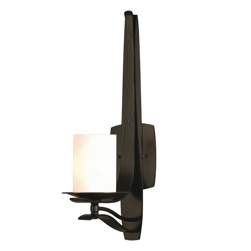 "Hubbardton Forge 204050 1 Light Up Light Wall Sconce from the Berceau Sale $653.40 ITEM#: 1563094 MODEL# :204050-05 Features: All Hubbardton Forge products are made to order in Castleton, Vermont USA Ultra secure mounting assembly ensures a sturdy installation Sends light in an upward direction as well as providing a general ambient light for your room Hand made nature of this product makes no two fixtures identicalLamping Technology: Bulb Base - Candelabra (E12): The E12 (Edison 12mm), Candelabra Edison Screw (CES), ""Candelabra"" is a term for the small-based incandescent light bulbs used in luminaires made for lighting and decoration. Compatible Bulb Types: Nearly all bulb types can be found for the E12 Candelabra Base, options include Incandescent, Fluorescent, LED, Halogen, and Xenon / Krypton.Specifications: Number of Bulbs: 1 Bulb Base: Candelabra (E12) Bulb Type: Compact Fluorescent Watts Per Bulb: 60 Wattage: 60 Height: 19.5"" Width: 5.5"" Extension: 8.4"" UL Listed: Yes UL Rating: Damp LocationCompliance: UL Listed - Indicates whether a product meets standards and compliance guidelines set by Underwriters Laboratories. This listing determines what types of rooms or environments a product can be used in safely.Warranty: All Hubbardton Forge products come with a limited lifetime warranty on finish and electrical components. This includes products used outdoors and near the coast. Read more about the Hubbardton Forge warranty below. Celebrating 40 years in business, Hubbardton Forge has been serving their customers by manufacturing unique pieces of lighting for years. Steadfastly committed to designing, manufacturing, and creating lighting under one roof in Vermont, you'll find no comparison between a Hubbardton Forge product and another lighting brand. Unlike brands who build their products overseas, each Hubbardton Forge piece is crafted, boxed, and shipped just for you. Experience the difference today! :"