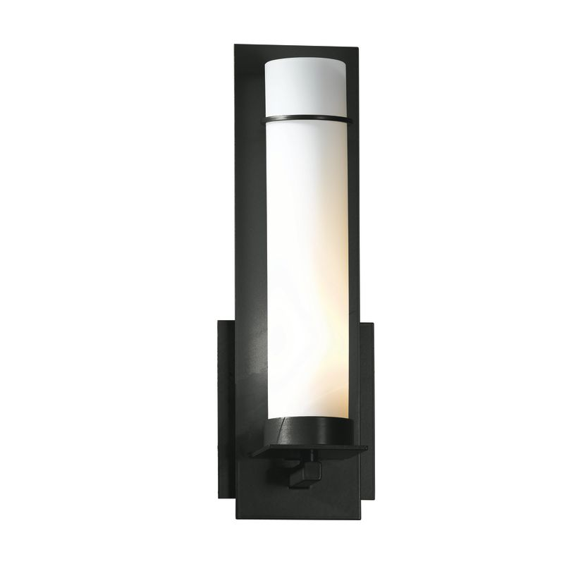 """Hubbardton Forge 204260 1 Light Wall Sconce from the New Town Sale $424.60 ITEM#: 1163999 MODEL# :204260-10 Features: All Hubbardton Forge products are made to order in Castleton, Vermont USA Ultra secure mounting assembly ensures a sturdy installation Sends light in an upward direction as well as providing a general ambient light for your room Hand made nature of this product makes no two fixtures identicalLamping Technology: Bulb Base - Candelabra (E12): The E12 (Edison 12mm), Candelabra Edison Screw (CES), """"Candelabra"""" is a term for the small-based incandescent light bulbs used in luminaires made for lighting and decoration. Compatible Bulb Types: Nearly all bulb types can be found for the E12 Candelabra Base, options include Incandescent, Fluorescent, LED, Halogen, and Xenon / Krypton.Specifications: Number of Bulbs: 1 Bulb Base: Candelabra (E12) Bulb Type: Compact Fluorescent Watts Per Bulb: 60 Wattage: 60 Height: 12.6"""" Width: 4.25"""" Depth: 3.7"""" Extension: 3.7"""" ADA: Yes UL Listed: Yes UL Rating: Damp LocationCompliance: ADA Compliance - The Americans with Disabilities Act (ADA). Fixtures hung between 27"""" and 80"""" above the floor must have an extension of 4"""" or less; this applies to wall lights hung in walkways, halls, corridors, passageways or aisles. Ceiling Fixtures must be hung no lower than 80"""". UL Listed - Indicates whether a product meets standards and compliance guidelines set by Underwriters Laboratories. This listing determines what types of rooms or environments a product can be used in safely.Warranty: All Hubbardton Forge products come with a limited lifetime warranty on finish and electrical components. This includes products used outdoors and near the coast. Read more about the Hubbardton Forge warranty below. Celebrating 40 years in business, Hubbardton Forge has been serving their customers by manufacturing unique pieces of lighting for years. Steadfastly committed to designing, manufacturing, and creating lighting under one roof in Vermont, you'l"""
