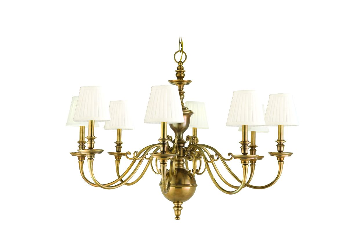 Hudson Valley Lighting 1748 Eight Light Up Lighting Cast Brass Sale $2772.00 ITEM#: 1336092 MODEL# :1748-AGB UPC#: 806134108120 :