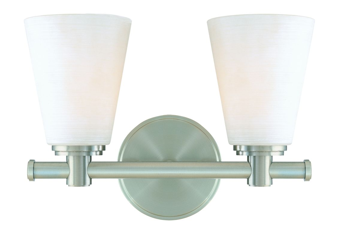 Hudson Valley Lighting 1842 Two Light Wall Sconce from the Garland Sale $214.00 ITEM#: 982375 MODEL# :1842-SN UPC#: 806134054786 :
