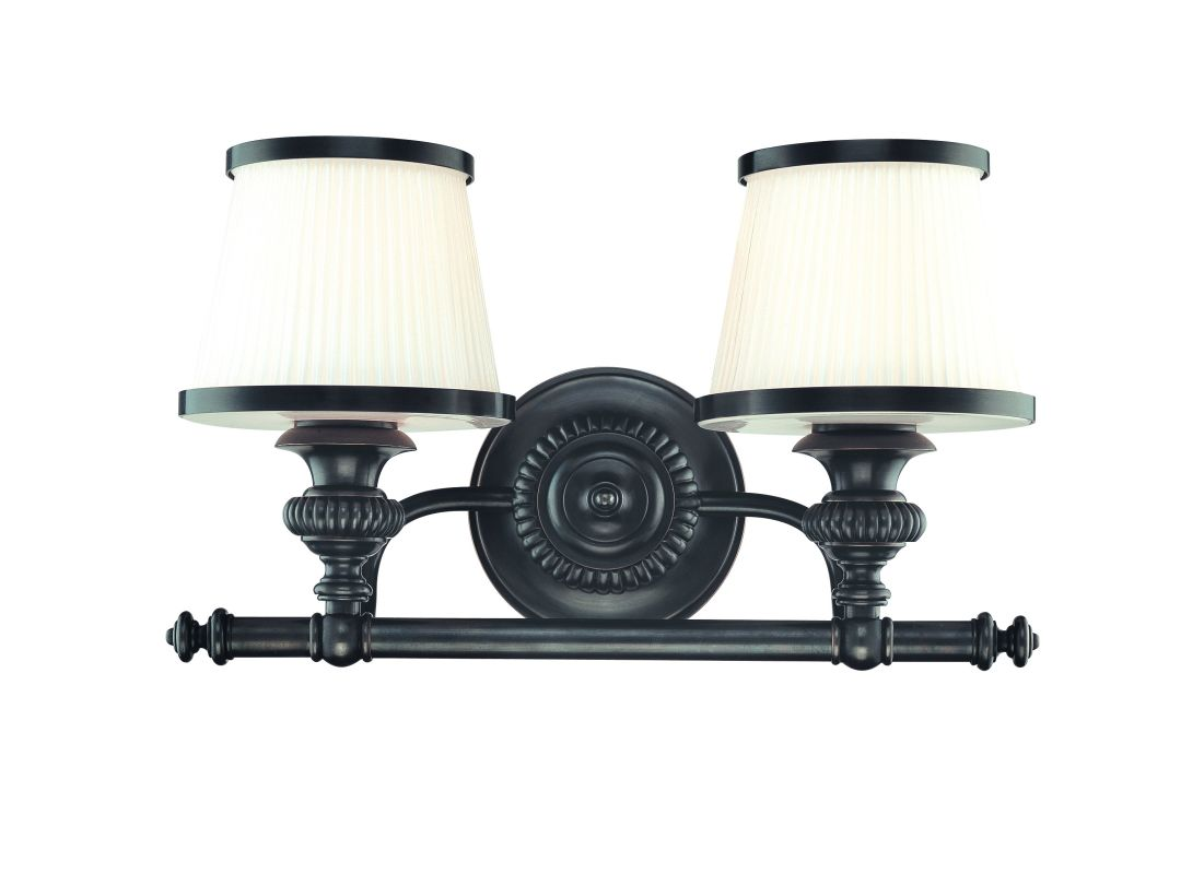 Hudson Valley Lighting 2002 Two Light Wall Sconce from the Milton Sale $320.00 ITEM#: 982402 MODEL# :2002-OB UPC#: 806134097813 :