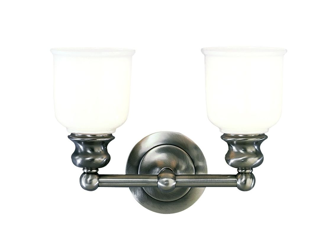 "Hudson Valley Lighting 2302 Two Light 14"" Wide Bathroom Fixture from Sale $278.00 ITEM#: 525982 MODEL# :2302-AN UPC#: 806134012069 :"