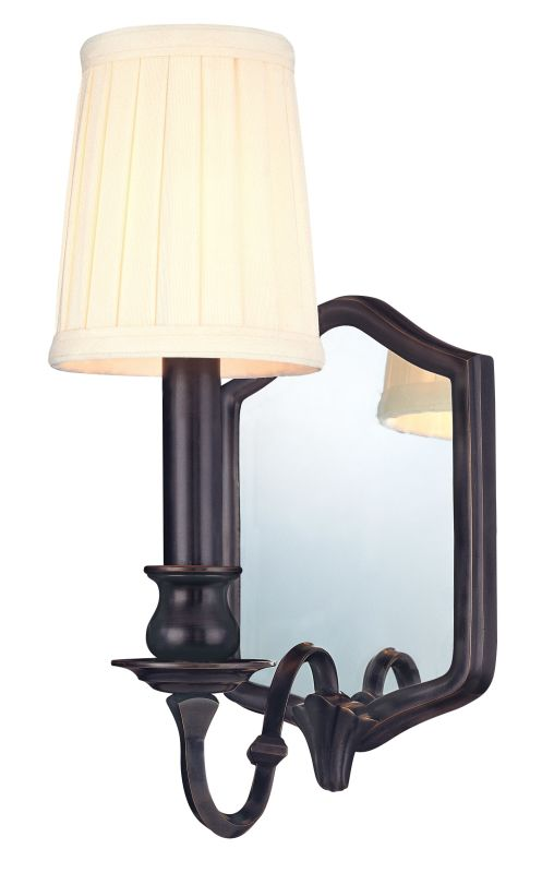 Hudson Valley Lighting 271 One Light Mirrored Wall Sconce from the