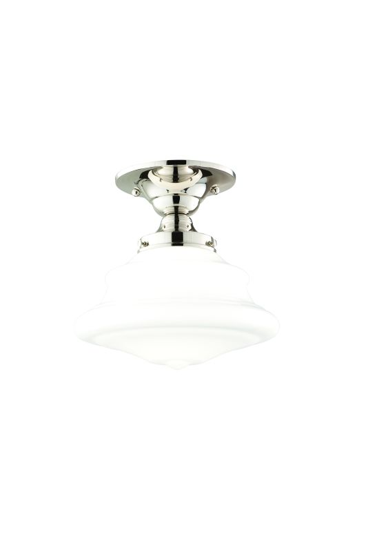 Hudson Valley Lighting 3409F One Light Semi Flush Ceiling Fixture from Sale $179.00 ITEM#: 984404 MODEL# :3409F-PN UPC#: 806134023218 :