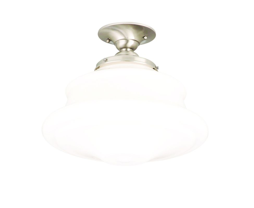 Hudson Valley Lighting 3416F Single Light Semi Flush Ceiling Mount Sale $279.00 ITEM#: 525140 MODEL# :3416F-SN UPC#: 806134023355 :