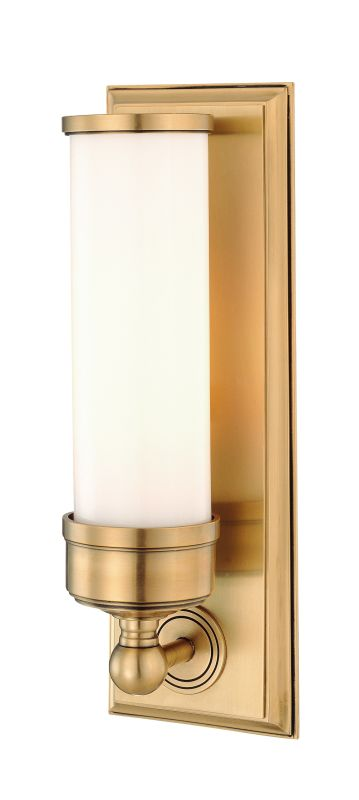 Hudson Valley Lighting 371 Indoor Wall Sconce Light Aged Brass Indoor