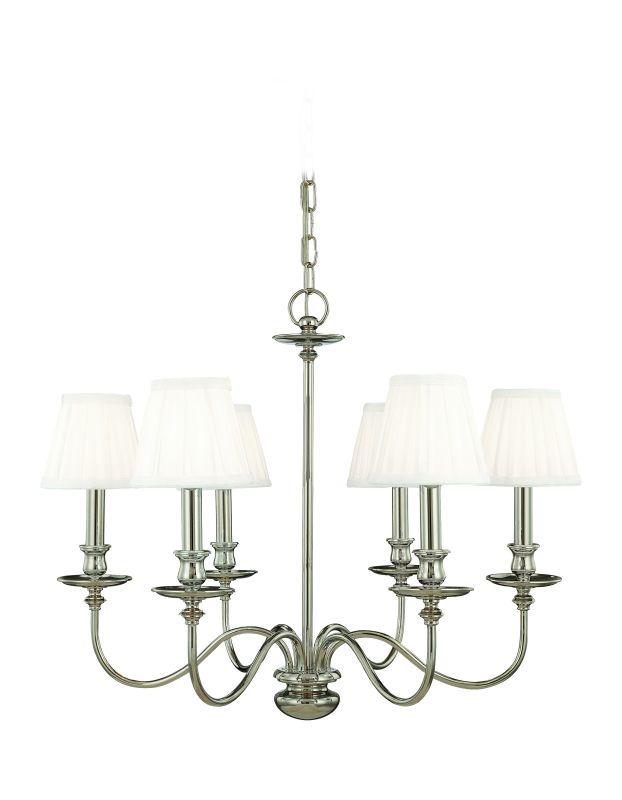 Hudson Valley Lighting 4036 Six Light Chandelier from the Menlo Park Sale $1178.00 ITEM#: 525151 MODEL# :4036-PN UPC#: 806134008468 :