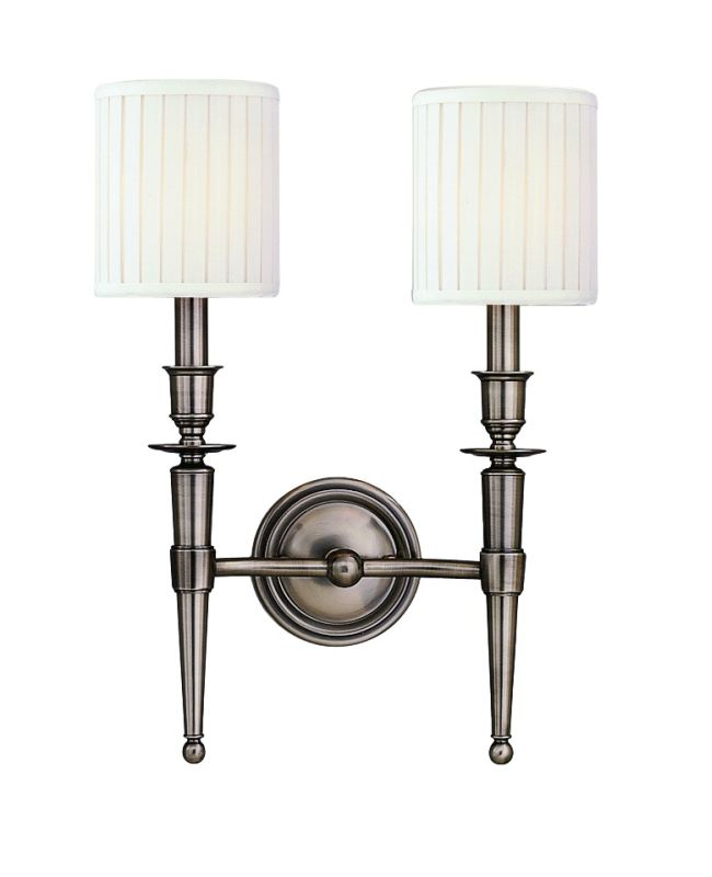 Hudson Valley Lighting 4902 Abington 2 Light Double Wall Sconce with Sale $386.00 ITEM#: 525167 MODEL# :4902-AN UPC#: 806134026837 :