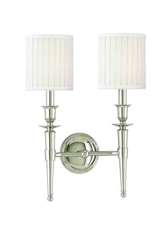 Hudson Valley Lighting 4902 Abington 2 Light Double Wall Sconce with Sale $386.00 ITEM#: 524798 MODEL# :4902-PN UPC#: 806134026851 :