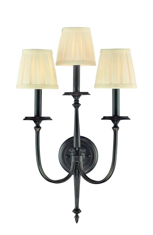 Hudson Valley Lighting 5203 Three Light Wall Sconce from the Jefferson Sale $632.00 ITEM#: 982725 MODEL# :5203-OB UPC#: 806134098230 :