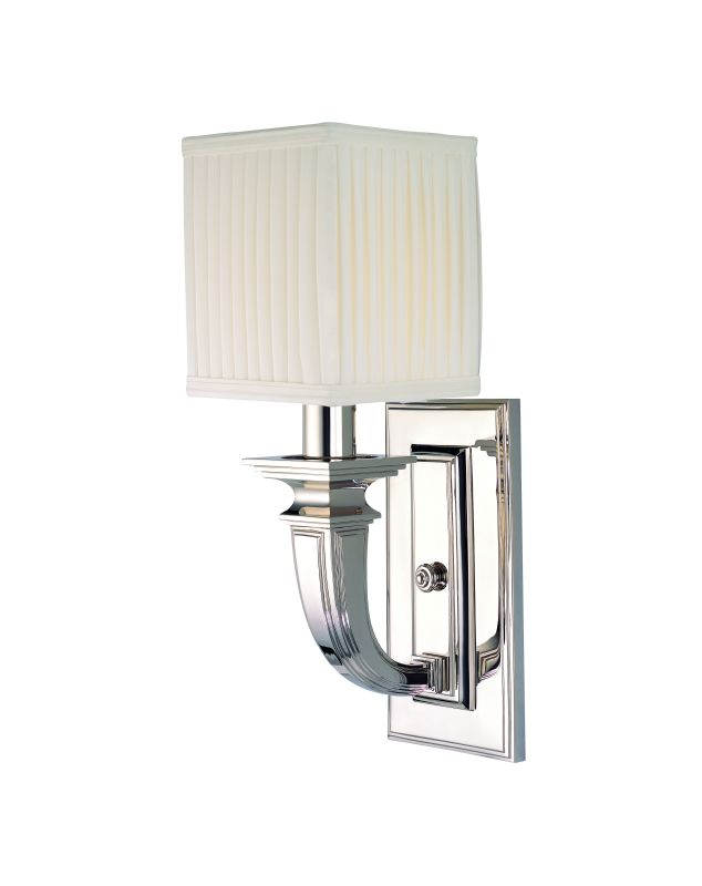 Hudson Valley Lighting 541 Phoenicia 1 Light Solid Brass Wall Sconce