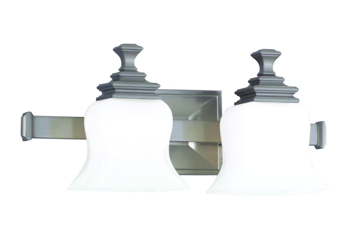 "Hudson Valley Lighting 5502 Two Light 17"" Wide Bathroom Fixture from Sale $278.00 ITEM#: 523997 MODEL# :5502-SN UPC#: 806134019518 :"