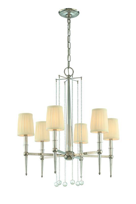 Hudson Valley Lighting 6016 Six Light Chandelier from the Laurel Sale $472.00 ITEM#: 982744 MODEL# :6016-PN UPC#: 806134096809 :