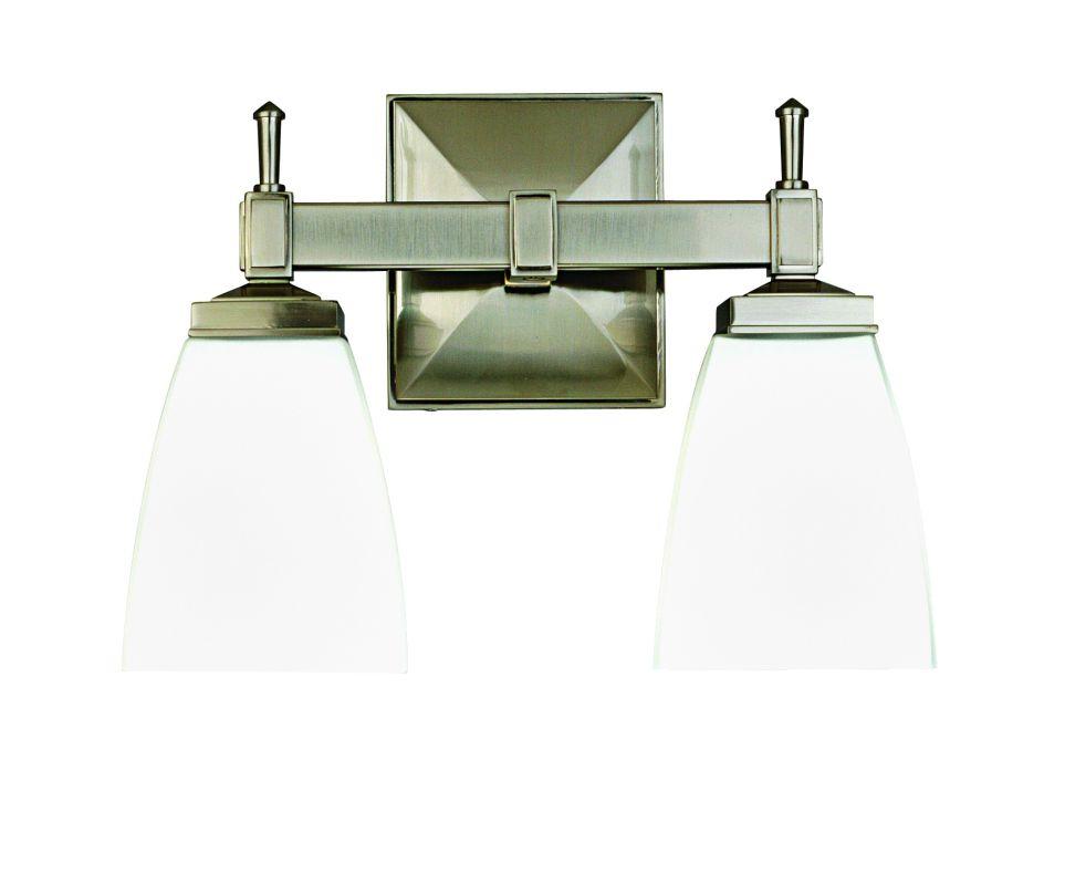 "Hudson Valley Lighting 652 Two Light 12"" Wide Bathroom Fixture from Sale $278.00 ITEM#: 526140 MODEL# :652-SN UPC#: 806134031695 :"