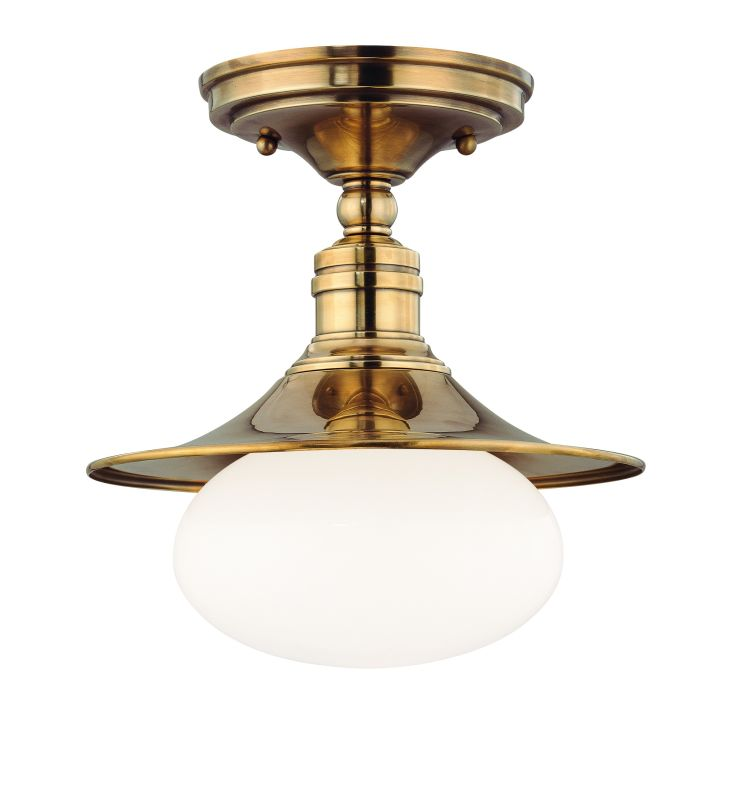 Hudson Valley Lighting 6711 Lawton 1 Light Cast Brass Semi-Flush Mount Sale $160.00 ITEM#: 1737566 MODEL# :6711-AGB UPC#: 806134105556 :