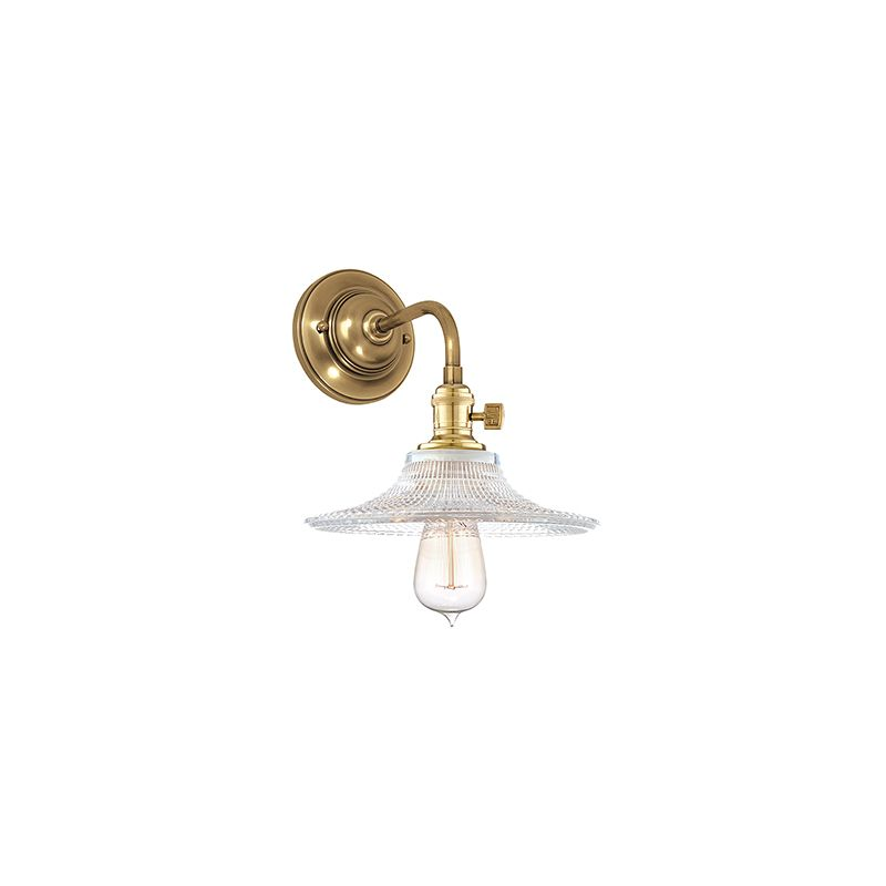 Hudson Valley Lighting 8000-GS6 Heirloom 1 Light Wall Sconce with Sale $278.00 ITEM#: 2063255 MODEL# :8000-AGB-GS6 UPC#: 806134128609 :