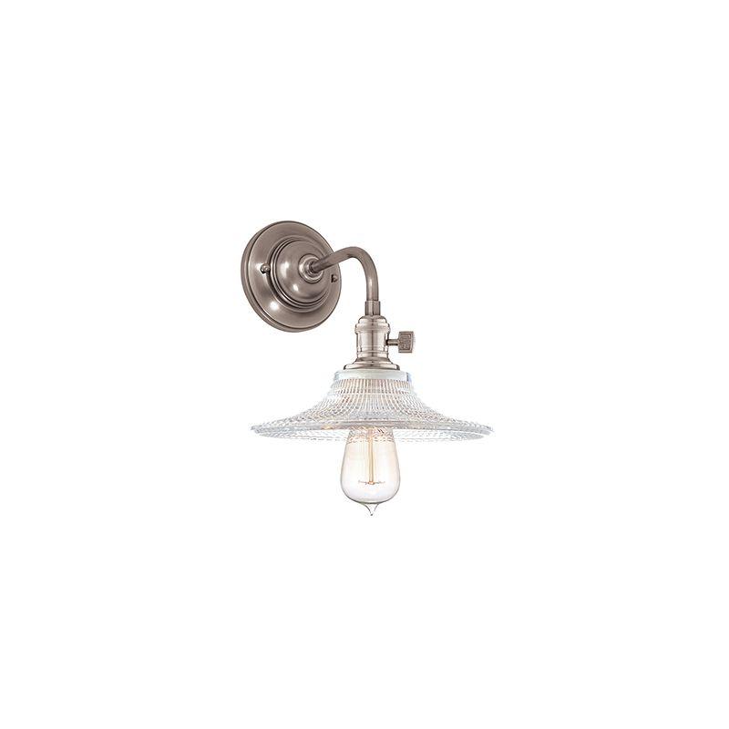 Hudson Valley Lighting 8000-GS6 Heirloom 1 Light Wall Sconce with Sale $278.00 ITEM#: 2063260 MODEL# :8000-HN-GS6 UPC#: 806134128661 :
