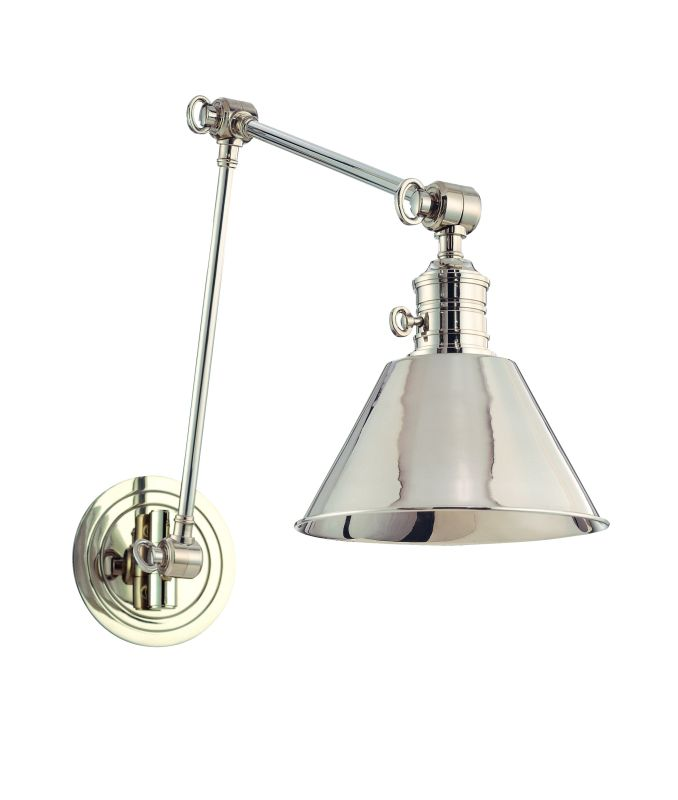 Hudson Valley Lighting 8323 Garden City 1 Light Swing Arm Wall Sconce Sale $590.00 ITEM#: 1250525 MODEL# :8323-PN UPC#: 806134105945 :