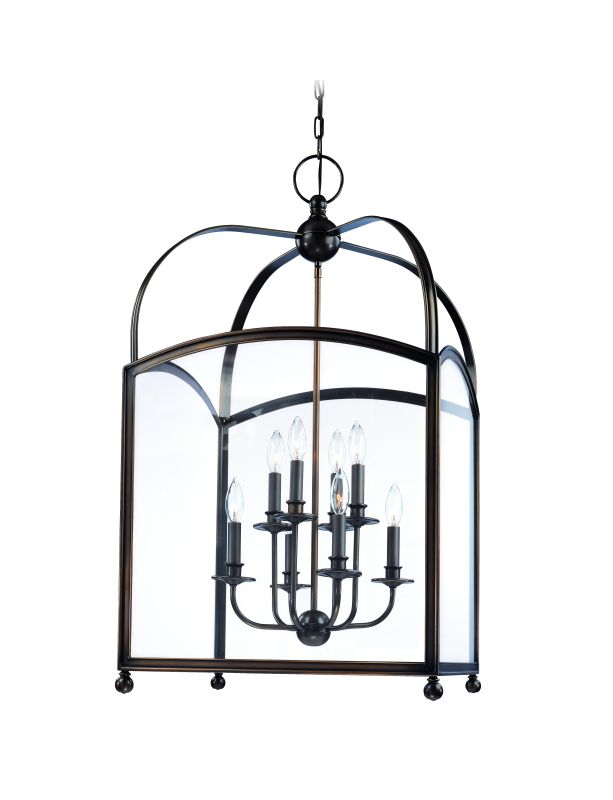 Hudson Valley Lighting 8420 Eight Light Up Lighting Two Tier Enclosed