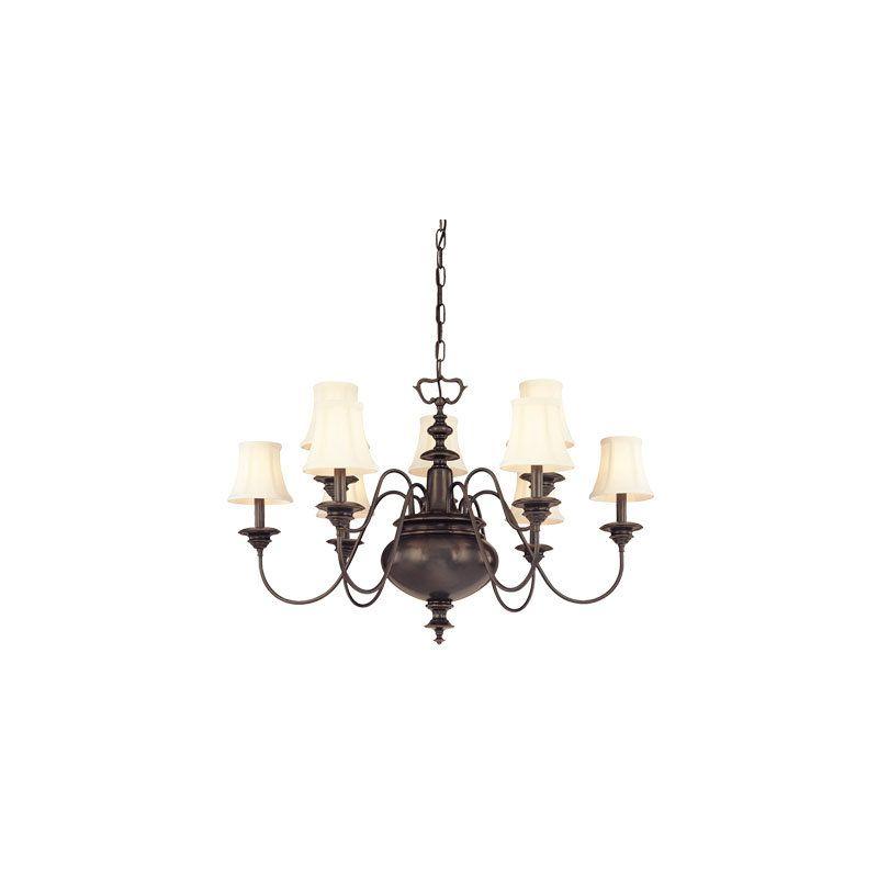 Hudson Valley Lighting 8719 Yorktown 9 Light Chandelier Polished Sale $1980.00 ITEM#: 982868 MODEL# :8719-PN UPC#: 806134056407 :