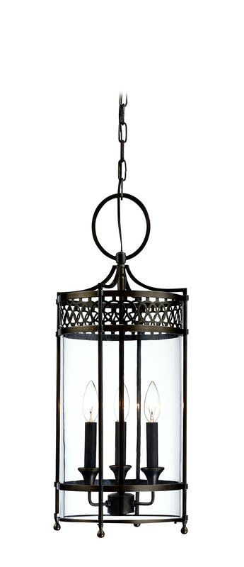 Hudson Valley Lighting 8993 Three Light Pendant from the Amelia