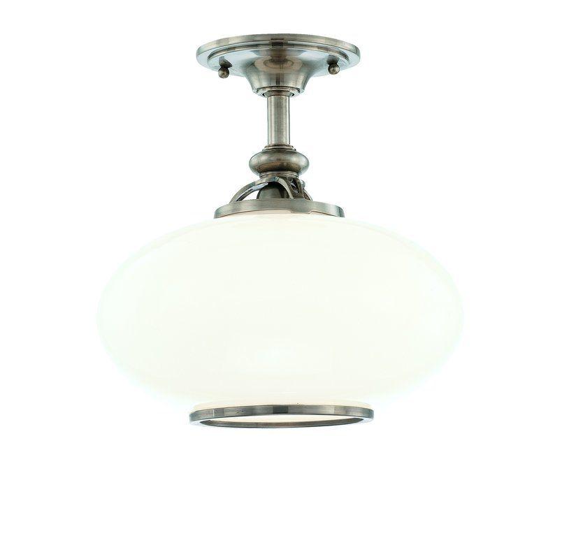 Hudson Valley Lighting 9812F Canton 1 Light Semi-Flush Ceiling Fixture