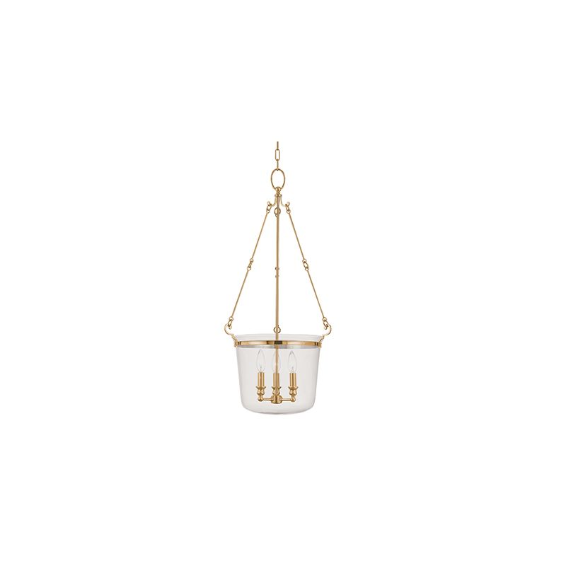 Hudson Valley Lighting 133 Three Light Pendant from the Quinton Sale $846.00 ITEM#: 982117 MODEL# :133-AGB UPC#: 806134094829 :